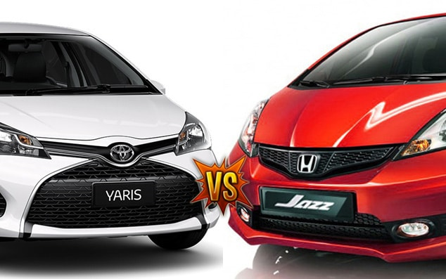 toyota yaris VS honda jazz